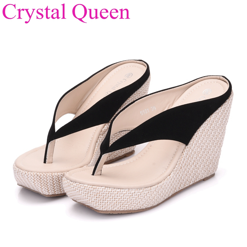 Wedges shoes 2017 New Womenhigh heels Flip Flops Fashion ...