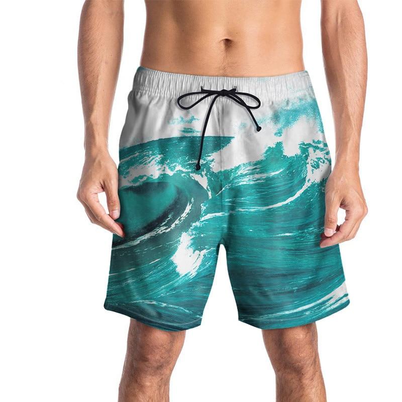 men's swimming trunks for swimming breathable adjustable men surfing   board     shorts   swimwear   shorts   for men