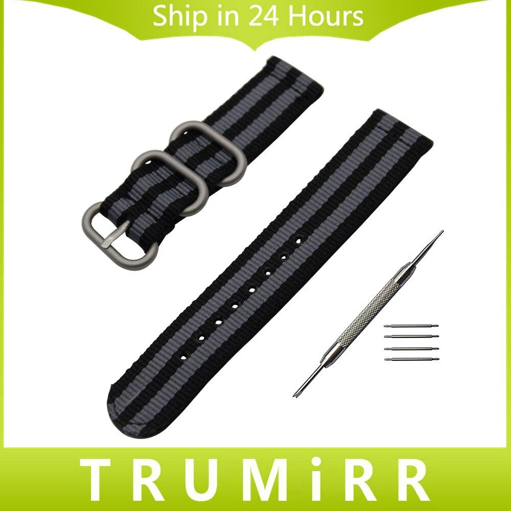 20mm 22mm Nylon Cinturino Zulu Strap per Amazfit Huami Xiaomi Bip BIT RITMO Lite Cinturino Tela Cintura Sport Da Polso braccialetto