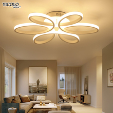 Led Deckenleuchten Fernbedienung Dimmer Wohnzimmer Schlafzimmer Esszimmer Acryl Eisen Krper Innen Hause Montiert Lampe Leuchten