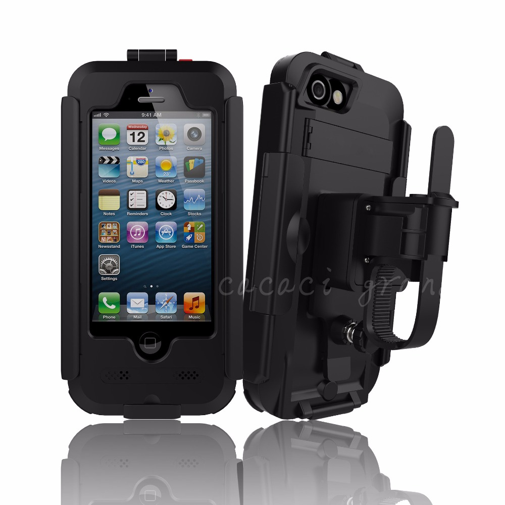 Bike Bicycle Handlebar Holder Stand Armor mount etui for <font><b>iphone</b></font> 7 7plus 6 6s plus 6plus 5 5s se Waterproof Outdoor Phone case