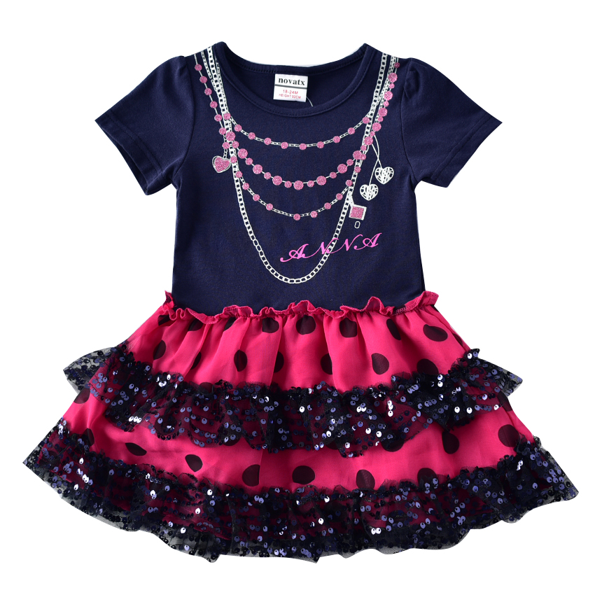 novatx H7111 baby girls clothes kids girls retail summer dress fashion party princess beautiful dress for girl nova brand 2017 retail fashion summer girl dress sleeveless kids dresses for girl tutu party dress lace polka dot novatx brand girls clothes