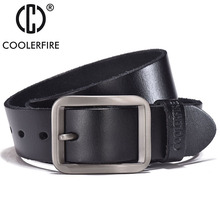 Luxury belt mens belts pronged buckle mans genuine leather strap for jean high quality wide brown color fashion JTC012