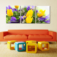 3 Piece Wall Art Painting Yellow Flower Pictures Prints On Canvas Modern Decorative Canvas Painting Drawing Bedroom Decor