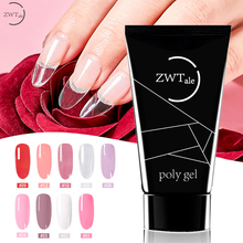 9 Colors 30g Nail Acrylic Hard Poly Gel Pink White Clear Crystal UV LED Builder Gel Tips Enhancement Quick Extension Gel Varnish nail builder crystal gel polish varnish for nail extension uv gel led sculpting hard 9 colors poly gel lacquer manicure tool