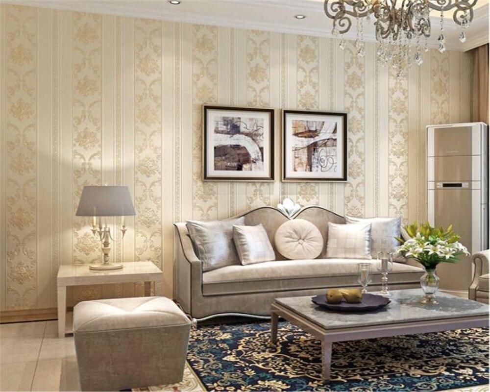 Beibehang Style européen en relief fleurs papier peint pour murs 3D luxe chambre décor salon canapé bleu moderne papier peint - 2