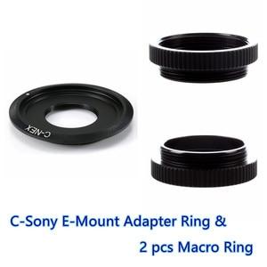 Image 4 - 35mm F1.6 CCTV Objectif Monture C Pour Sony A6500 A6400 A6300 A6000 A5100 A5000 NEX 6 NEX 7 NEX 5T NEX 5R NEX 3N APS C E mount NEX