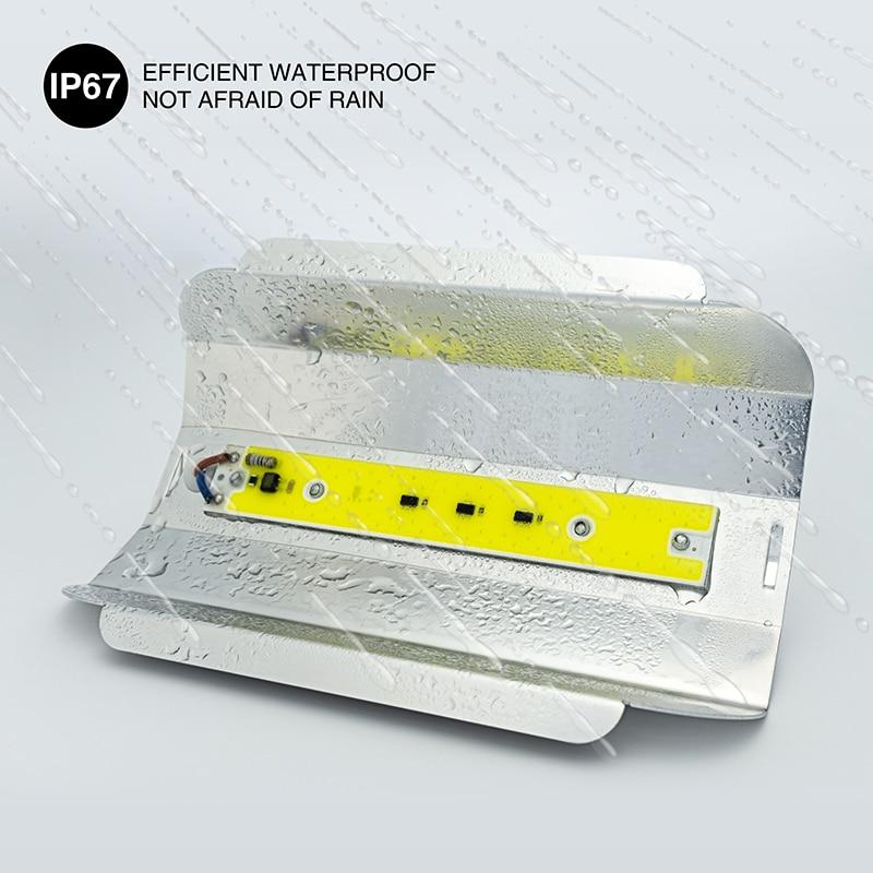 US $6 77 40% OFF LED Floodlight 30W 50W 80W Outdoor Lighting AC 220V 110V  Spotlight Full Spectrum IP67 Waterproof LED COB Spot Light Wall Lamp-in