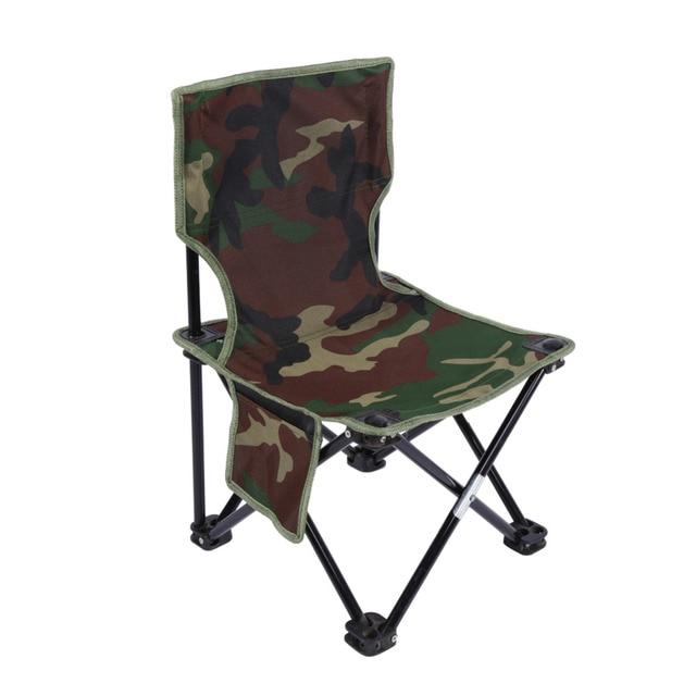 Portable Folding Canvas Fishing Chair Camouflage Folding Chair Fishing  Tools For Hiking Camping Picnic Beach Outdoor