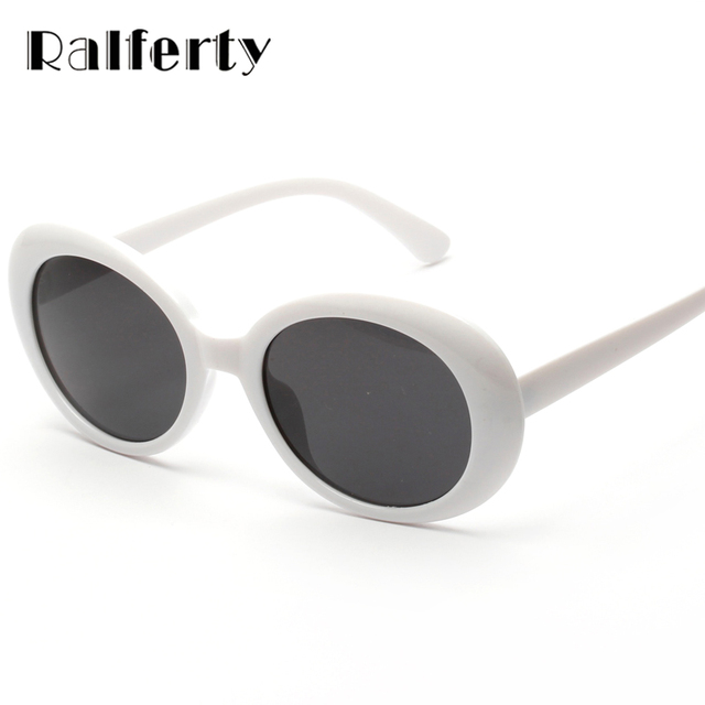 06155db74ff Ralferty Vintage Oval Sunglasses Women Men Classic Eyewear Accessories  UV400 Sun Glasses For Women Shades White Oculos X1304