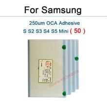 50pcs OCA optical clear adhesive for Samsung galaxy S S2 S3 S4 i9200 i9300 I9500 S5 MINI i8190 I9190 G800 double side sticker waterproof dry bag case for samsung galaxy s5 g900 s4 i9500 s3 i9300 etc size 175 x 95mm transparent