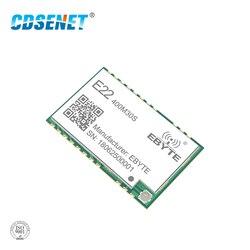 SX1268 1 Вт LoRa 433 МГц беспроводной приемопередатчик CDSENET E22-400M30S 30dBm IPEX отверстие для штампа SMD большой диапазон радиочастотный модуль 433 мгц прием...