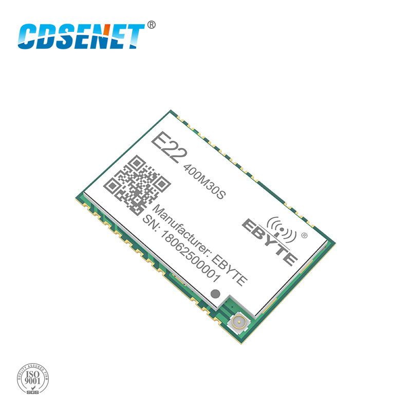 SX1268 1 W LoRa 433 Mhz transceptor inalámbrico CDSENET E22-400M30S 30dBm IPEX sello agujero SMD módulo rf 433 MHz receptor