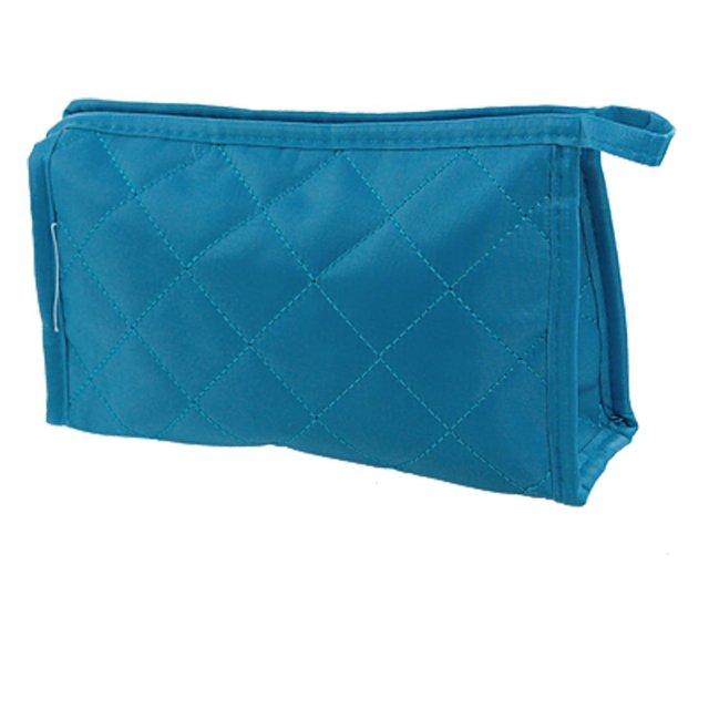 Comercio al por mayor 10 * de la Mujer Azul Rectángulo Pequeño Estuche de Cremallera Bolsa Bolsa de Maquillaje