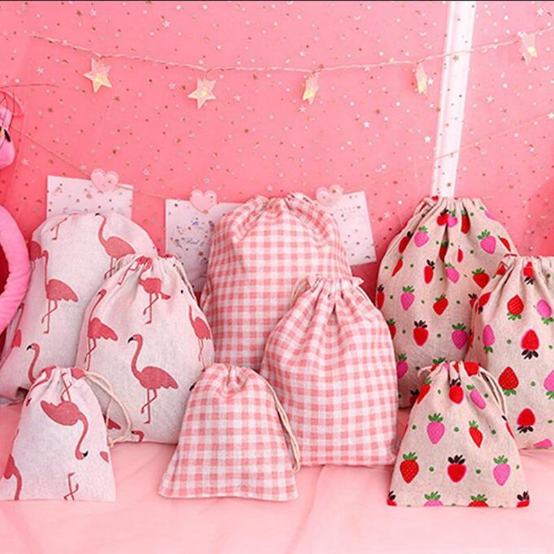 Cartoon Animal Flamingo Pink Cosmetic Bag Women Travel  Make Up Case Organizer Storage Makeup Toiletry Beauty Wash Kit Pouch