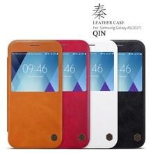 Для samsung a5 2017 Case NILLKIN Цинь Серии откидная крышка PU кожа с окошком для Samsung galaxy a5 2017 case cover капа