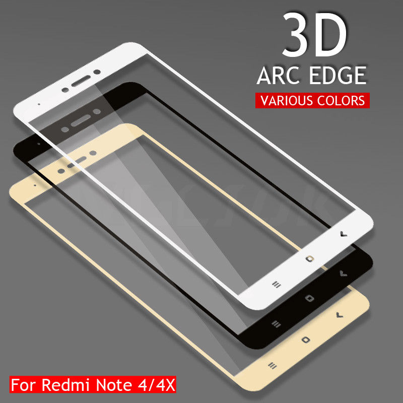 3D Full Cover Tempered Glass On The For Xiaomi Redmi Note 4 4X Redmi Note 4X Pro Note 4 Global Version Screen Protective Film3D Full Cover Tempered Glass On The For Xiaomi Redmi Note 4 4X Redmi Note 4X Pro Note 4 Global Version Screen Protective Film
