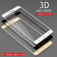 3D Volle Abdeckung Gehärtetem Glas Auf Die Für Xiaomi Redmi Hinweis 4 4X Redmi Hinweis 4X Pro Hinweis 4 Globale version Display-schutzfolie