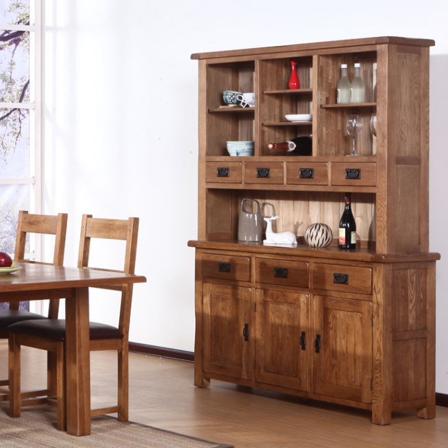 Solid Wood Sideboard Large Wine Cabinets Minimalist Modern Kitchen Cupboard  Lockers Pastoral Cheap IKEA Furniture In Sideboards From Furniture On ...