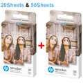 Zink Foto Papier 5*7,6 cm (2x3-inch) für HP Kettenrad Foto Drucker Ohne Tinte Sticky-Gesichert Diy Foto Druck 20/50 Blätter