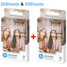 Zink Photo Paper 5*7.6cm (2x3-inch) for HP Sprocket Photo Printer Without Ink Sticky-Backed Diy Photo Printing 20/50 Sheets(China)