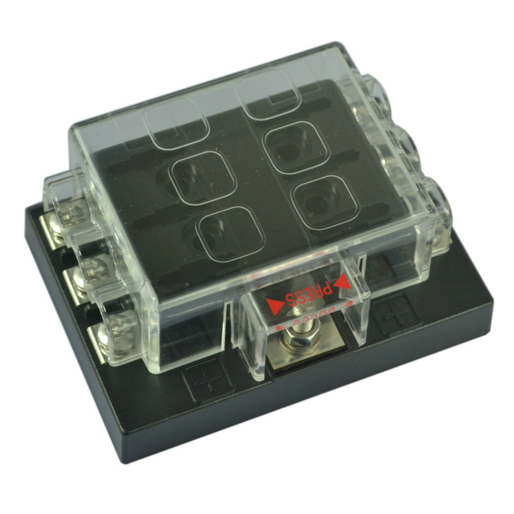 6 Way Blade Fuse Box Block Holder Circuit For Auto RV Boat Marine 12V/24V-in  Fuse Components from Home Improvement on Aliexpress.com | Alibaba Group