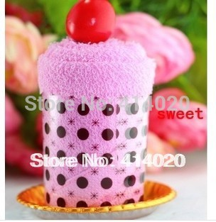 2014 New Limited Free Shipping ! Party Supply 30*30cm Big Size Cute Ice Cream Wedding Gift Towel , Cake Weeding Giveaway Gift.