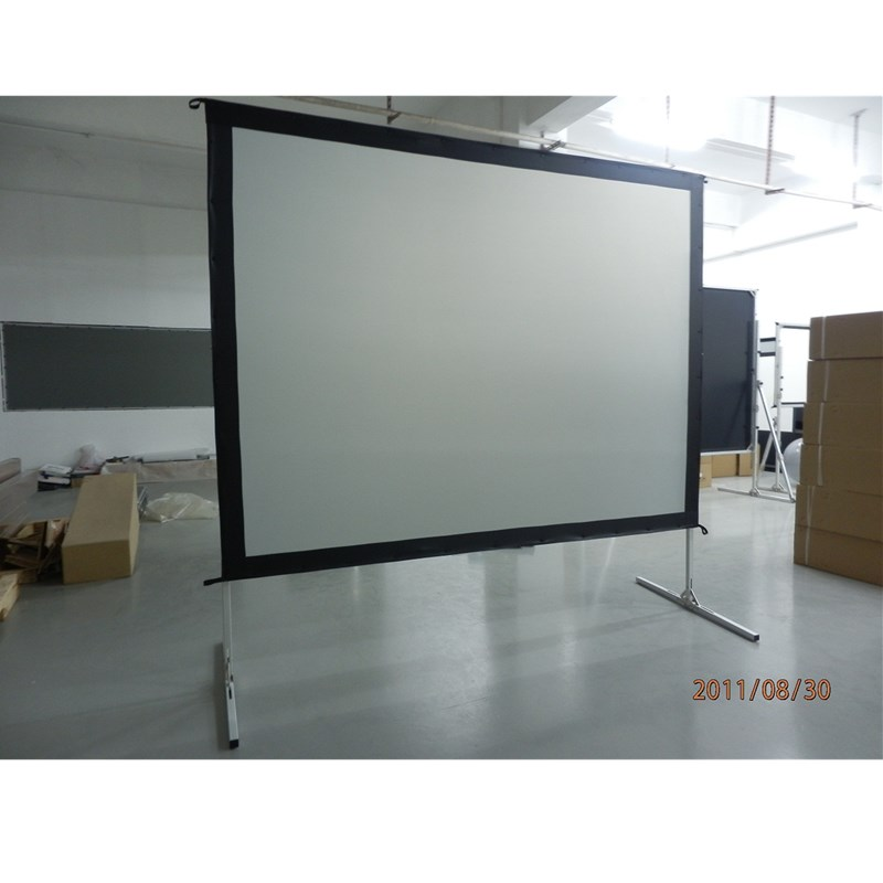Front Projector Screen 100 4K Portable Indoor/Outdoor Movie Theater Fast-Folding Projector Screen with Stand Legs HD 4:3 format fast free shipping 100 4 3 tripod portable projection screen hd floor stand bracket projector screen matt white factory supply