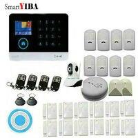 Smartyiba Беспроводной WI FI GSM SMS RFID общения охранной сигнализации дома Системы с видео ip Камера детектор дыма огня
