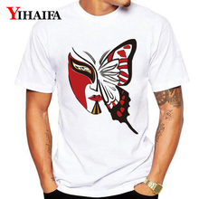 Summer Fashion T-Shirt Men Women 3D Print Butterfly Man Creative Graphic Tees Casual Unisex Tops White Tee Shirts