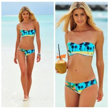 Women Swimwear Tree printed Bikini Sexy Padding Swimwear Ladies Swim suit Bathing suit Brazilian Bikinis Set maillot de bain