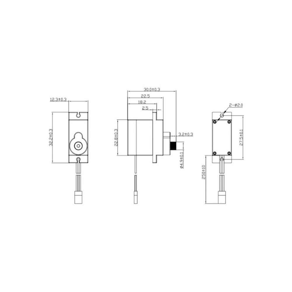 5pcs 10pcs dxw 90 9g mini micro servo motor horns for sg90 rc robot arm [ 1000 x 1000 Pixel ]
