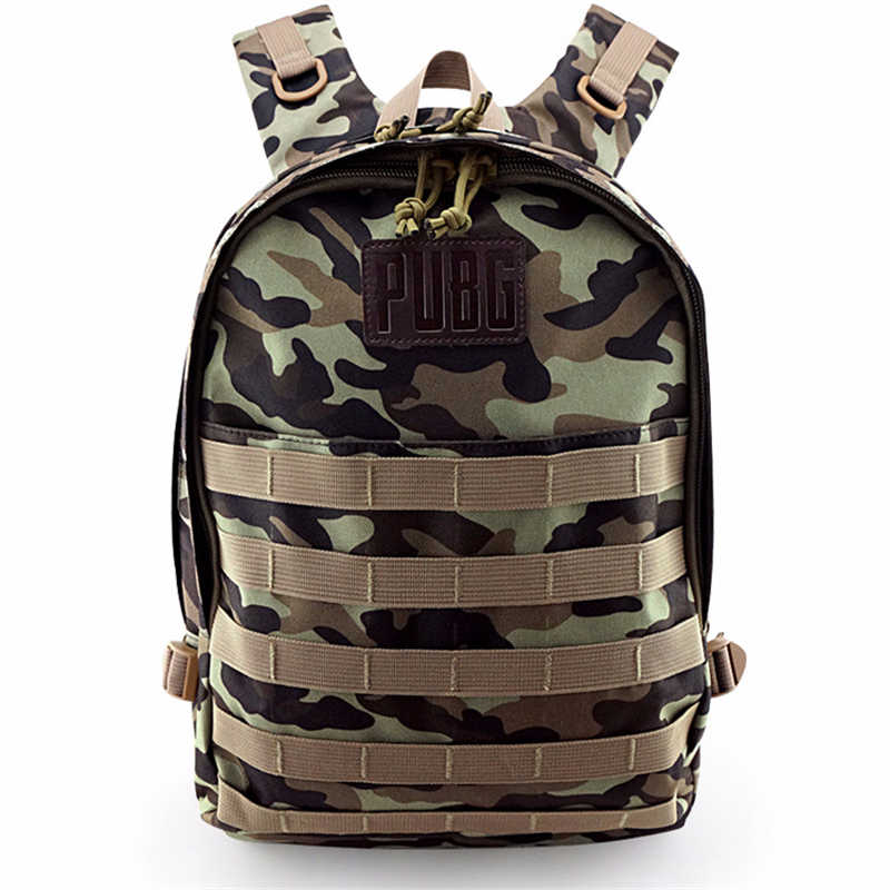 Role-play Men And Women BATTLEGROUNDS Triple Backpack For Play Kurown eat Chicken Canvas Shoulder Bag