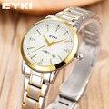 Marca EYKI Relógio de Aço Inoxidável Data Dia Relógio Feminino Relogio feminino Moda Feminina Casual Relógio de Pulso de Quartzo Das Mulheres Relógios