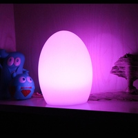 SK LF04 D14*H19cm Rechargeable Waterproof IP65 RGBW 16 Colour Changing LED Egg shaped Night Light Lamp Free shipping 5pcs/Lot