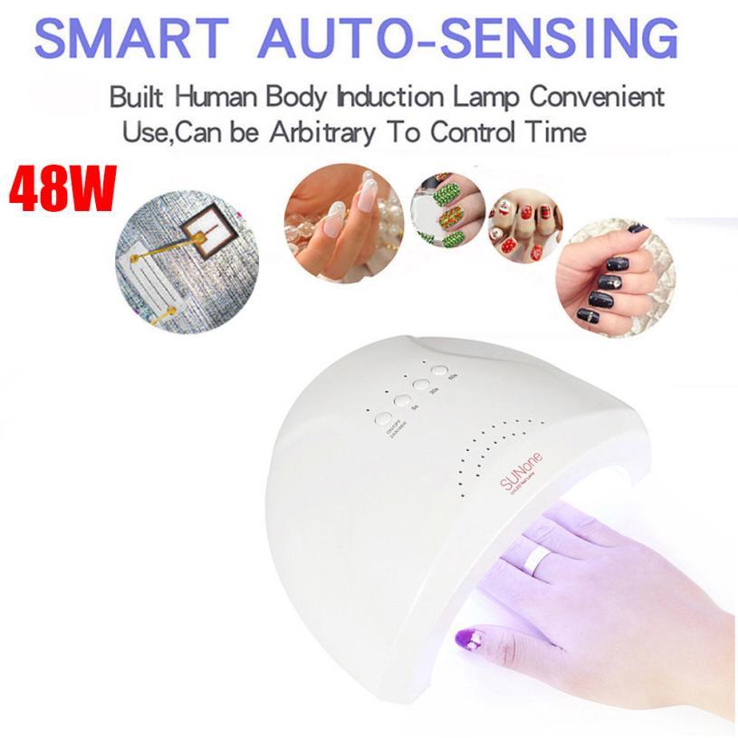 LED UV Lamp Professional 48W LED UV Nail Dryer Gel Polish Lamp Light Curing Manicure Machine US/ EU Plugs dropshipping 18jul19