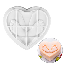 Heart Shape 3D Silicone Cakes Molds Lovely Baby Infant Feet and Hands Mousse Mold Cake Decorating Tools