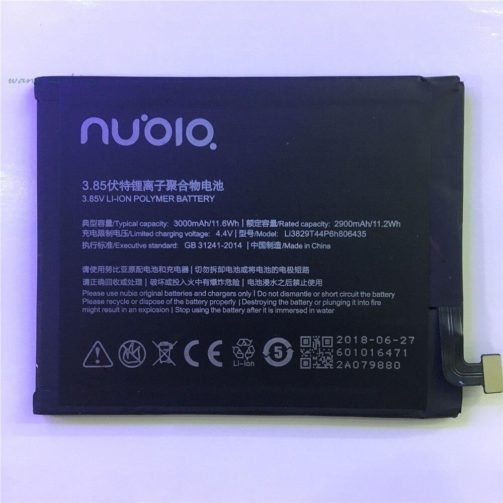 2018 neue für nubia z11 NX531J Z11 Li3829T44P6h806435 3000 mah Wiederaufladbare Li-Ion Eingebaute handy lithium-polymer-batterie