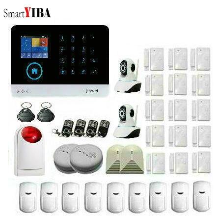 SmartYIBA 433 MHz sans fil WIFI 3G entreprise et système d'alarme de sécurité à domicile capteur de mouvement infrarouge porte alerte magnétisme APP contrôle