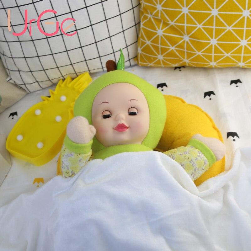 kawaii mignon anime jouets en peluche bébé dessin animé poupée peluche jouet poupées pour les filles anniversaire cadeau de Noël apaiser poupée dormir URGE