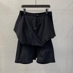 Owen Seak Uomini Casual Breve Harem Impermeabile Gothic Uomini di Stile di Abbigliamento Pantaloni Della Tuta Delle Donne di Estate Allentato Nero Corto Taglia XL
