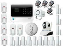DHL libre APP Controlado WIFI GSM Sistema de Alarma de Seguridad Inalámbrica Inteligente RFID GPRS Inicio Sistema de Alarma con Cámara de Vigilancia IP