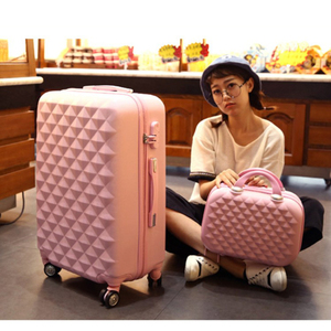 Image 5 - 여행 이야기 소녀 귀여운 트롤리 수하물 세트 abs 하드 사이드 싼 여행 가방 가방에 바퀴
