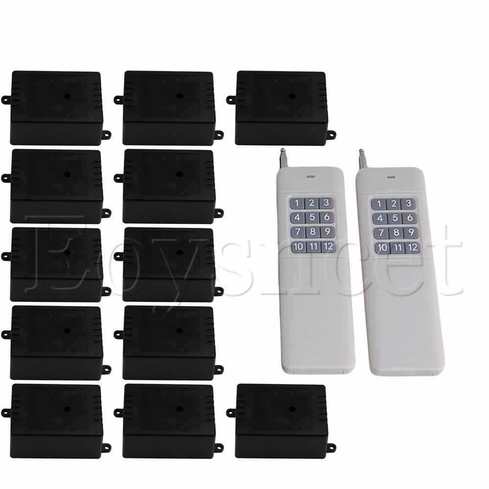 DC12V 12 Receiver Inching/Self-lock Wireless 1CH 433MHz Remote SwitchDC12V 12 Receiver Inching/Self-lock Wireless 1CH 433MHz Remote Switch
