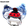 2016 Baby Boys Girls Winter Hats Cotton Blends Caps Newborn Infant Baby kids Hat Print For Baby Clothing Accessories 0-20 months