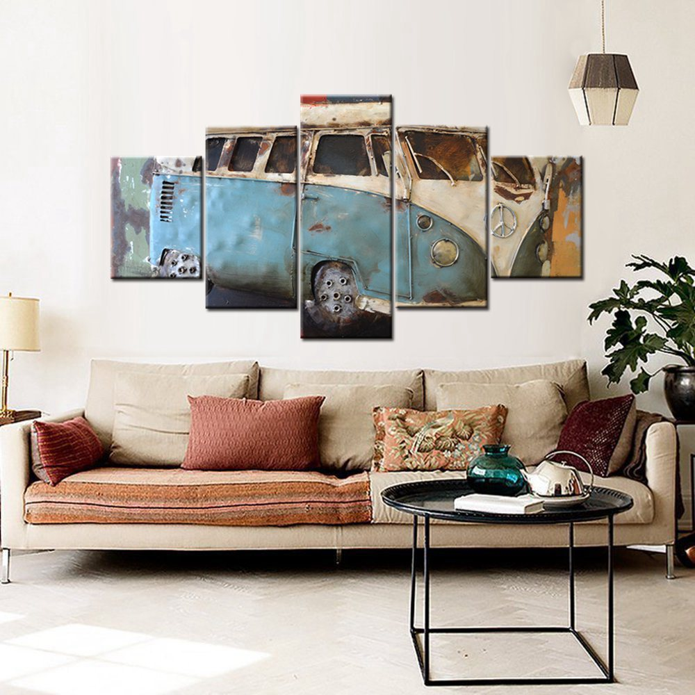 Quadri Per Sala Da Pranzo us $14.0  wall art canvas print vintage old car picture painting for dining  room office home wall decor retro artwork drop shipping custom wall