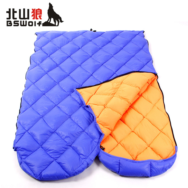 ФОТО BSWolf Outdoor camping sleeping bag Removable interior envelop type Lightweight camping hiking comfortable lunch sleeping bag