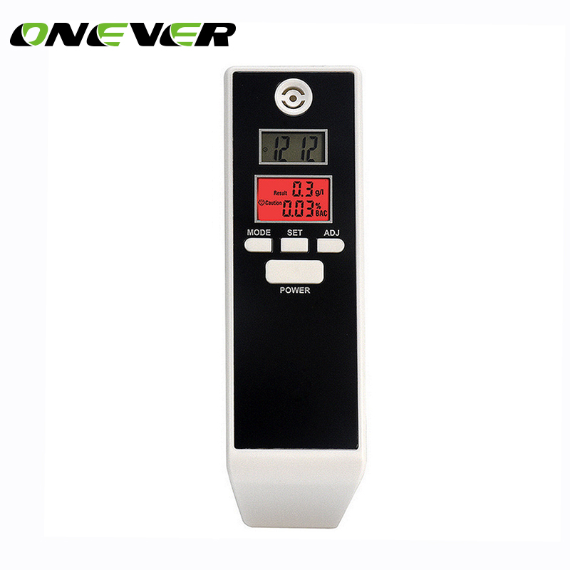 Onever Backlit Display Digital LCD Alert Breath Alcohol Tester