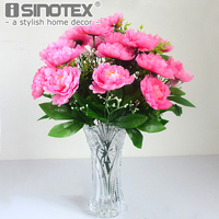 Home Ornamental Bouquet Flores Bunch Nordic Style Peony Artificial Flowers Fake Silk Mariage Birthday Party Wedding