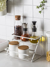 Simple Kitchen Rack Double Corner Metal Spice Toilet Turn